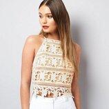 Кружевная блуза, топ бренда New Look 2492