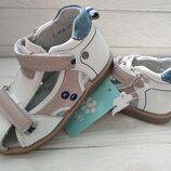 Орто профилактические босоножки сандалии детские полностью кожаные летняя обувь для мальчика девочки