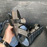 Мужские сандали нубуковые летние серые