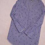 Блуза в полоску звёздный принт размер 10 george