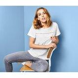 Фирменная вышитая футболка. Блуза с коротким рукавом на 44-46. S-M