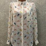Рубашка блузка в фламинго
