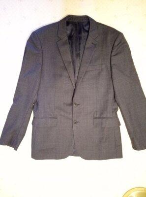 Пиджак мужской фирмы Jaeger р.40R темно-серого цвета в идеальном состоянии