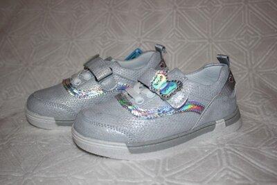 Кроссовки мокасины туфли для девочек. р.26-16,5 см р.29- 18,5 см