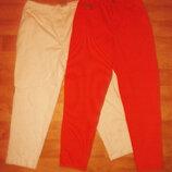 Джинсы - бриджи белые оранжевые р. 8-10 L - M - Marks & Spencer - HIS Jeans