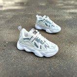 Супер цена Кроссовки женские под Adidas Yeezy 500 белые экокожа сеточка кеды криперы копия 36-41