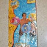 Пляжный мяч Bestway Морские рыбки розового цвета. Диаметр 51 см.