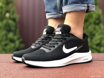 Кроссовки мужские Nike Flyknit Lunar 3 , черные с белым