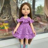 Летнее красивое платье для куклы Паола Рейна