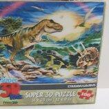 3d пазл динозаври 31×23см
