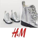 Хайтопы, ботинки на молнии, деми h&m