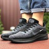 Nike Flyknit Lunar 3 кроссовки мужские демисезонные черные с серым 9340