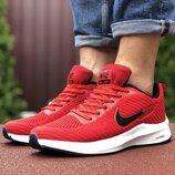 Nike Flyknit Lunar 3 кроссовки мужские демисезонные красные с белым 9391