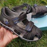 Полностью кожаные босоножки сандалии для деток по старше 33 - 38 размеры летняя обувь