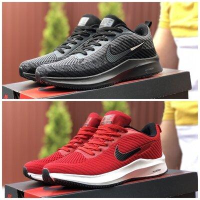 Кроссовки Nike Flyknite Lunar 3 серые и красные