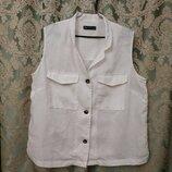 Белая льняная блузка от M&S