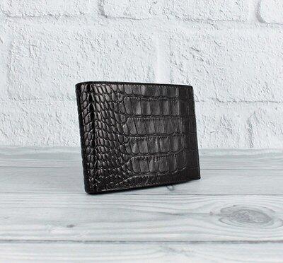 Кошелек мужской кожаный черный карты, монеты Bond Non 521-356 Турция
