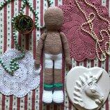 Новая вязаная кукла основа тело 29 см