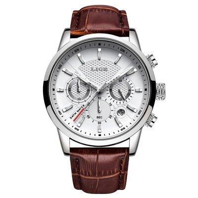 Мужские наручные часы Lige 9866 White