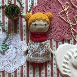 Новая вязаная кукла 20 см