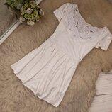 Очень красивая натуральная блуза туника от George бирочка срезана рр 14 наш 48