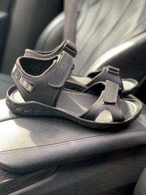 Мужские сандалии Clarks, натур.кожа, черные