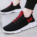 Удобные мужские кроссовки Sup, 40 - 44, Черный
