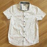 Рубашка для мальчика Next ,р.146-152,хлопок,Индия