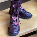 Ботинки лаковые Zara kids pink panther, 34 раз, 21,5-22 см, розовая пантера,3105/303/022