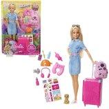 Кукла Барби Путешественница с чемоданом и со щенком Barbie Doll and Travel Set with Puppy