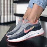 Кроссовки женские Nike Flyknit Lunar 3, серые с розовым