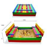 Детская песочница размер 200х200см крупная