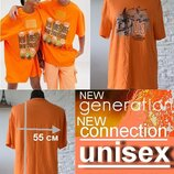 Живи Ярко Оранжевая футболка casual NEW GENERATION