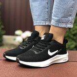 Кроссовки женские Nike Flyknit Lunar 3, черный с белым