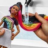 Темная кукла Барби Радужное сияние волос Barbie Rainbow Sparkle Hair Doll Brunette