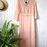 Вечернее нарядное закрытое платье макси довга сукня кафтан
