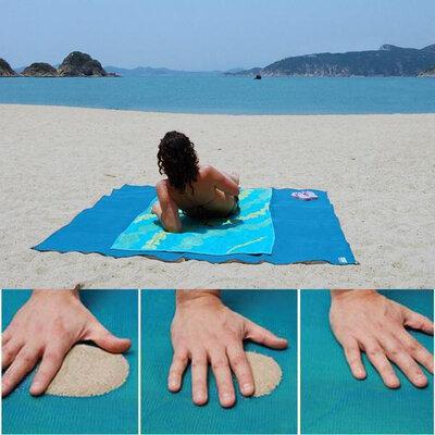 Пляжная подстилка, коврик на пляж Антипесок Sand Free 200х200см