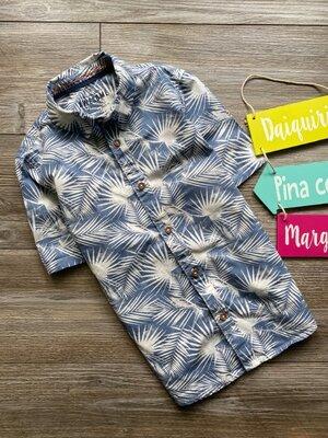 Рубашка с папоротниками F&F 8-9л