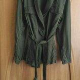 Пиджак кимоно H&M хаки, тёмно-зелёного защитного цвета размер xl