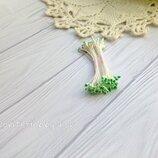 Тычинки бело-зеленые каплевидные-25 нитей-Тайланд