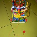 Лабиринт каталка Бабочка ,игрушка развивающая детская