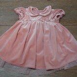 Красивое нарядное платье Next 3-6 мес