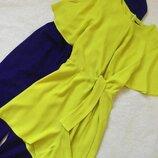 Яркий салатовый ромпер комбез с шортами f&f размер 12