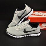 мужские кроссовки Nike Free Run 3.0 серые 41-45р