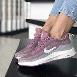 Nike Flyknit Lunar 3 кроссовки женские демисезонные фиолетовые с серым и белым 9394