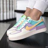 Кроссовки женские Nike Air Force, бежевые