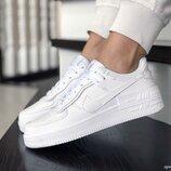 Nike Air Force кроссовки женские демисезонные белые 9402