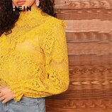 Шикарная кружевная блуза кроп топ