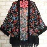 Цветочная накидка-кимоно george