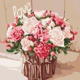 Картина по номерам Роспись на холсте Розы любви Кно2074